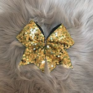 Other - Gold Sequin Cheer Bow